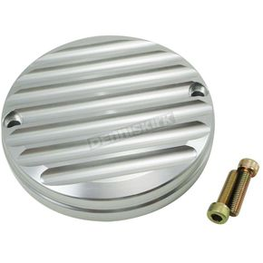 Joker Machine Clear Anodized Silver Finned Billet Points Cover - 16-590S