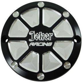 Joker Machine Matte Black/Aluminum Joker Racing Billet Points Cover - 16-591B