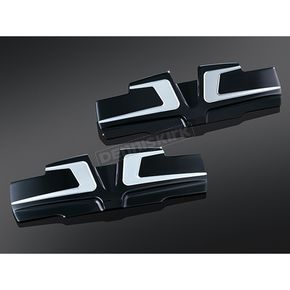 Bahn Black/Silver Bahn Rocker Cover Accents - 6920