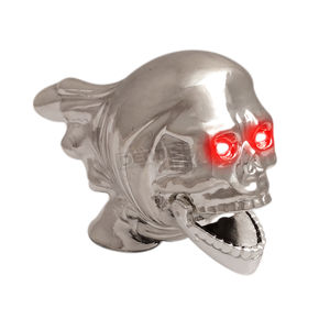 Flying Skull Chrome Fender Ornament - 3830