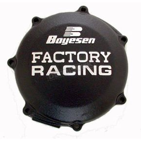 Factory Racing Black Clutch Cover - CC-37AB