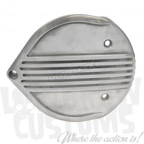 Lowbrow Customs Semi-Polished Finned Air Cleaner Cover - 4031