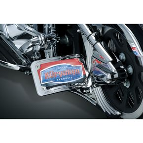 Curved Horizontal Side Mount License Plate Holder - 9253