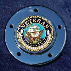 Motordog69 Max 1.8  Timing Cover Coin Mount With Veteran US Navy 2-Sided Coin - JMPC-M-5-VNAVY