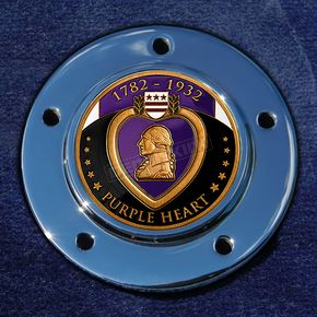 Motordog69 Max 1.8  Timing Cover Coin Mount With Engraveable Purple Heart 2-Sided Coin - JMPC-M-5-PURPLEH