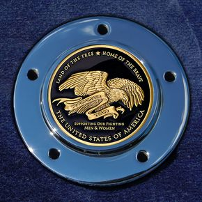 Motordog69 Max 1.8  Timing Cover Coin Mount With Support Our Troops 2-Sided Coin - JMPC-M-5-THANKTR