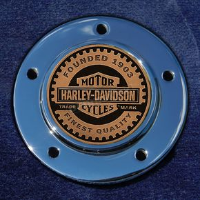 Motordog69 Max 1.8  Timing Cover Coin Mount With Harley Racer 2-Sided Coin - JMPC-M-5-HRACER