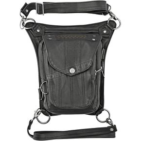 Speed and Strength Black Speed  Society Leather Hip Bag - 87-8521