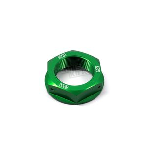 Works Connection Green Steering Stem Nut - 24-338