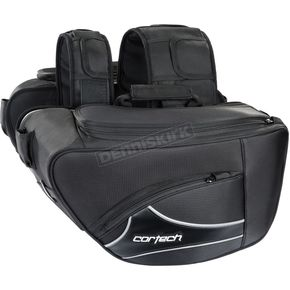 Cortech Black Super 2.0 Contoured Saddlebags - 8230-0305-26