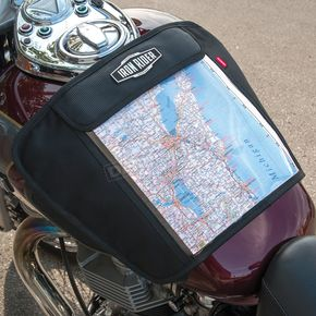 Iron Rider Black Magnetic Map Pocket - 50116-00