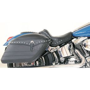 Mustang Seats Studded Covered Hard Saddlebags w/Conchos - 13300