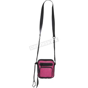 Fox Womens Day Glo Pink Network Crossbody Purse - 57816-269