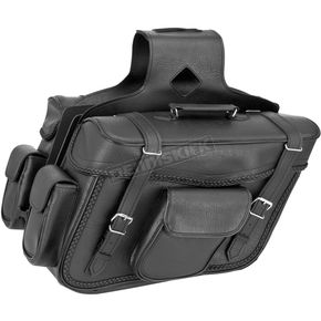 River Road Braided X-Large Slant Momentum Saddlebags - 10-9015