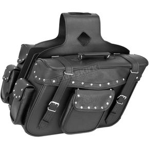River Road Studded X-Large Slant Momentum Saddlebags - 10-9014