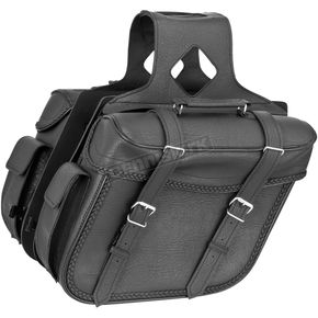 River Road Braided Large Quantum Slant Saddlebags - 10-8997