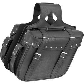 River Road Studded Large Quantum Slant Saddlebags - 10-8996