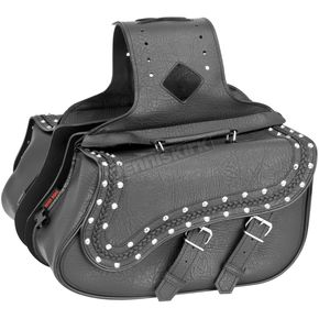 River Road Studded Medium Quantum Slant Saddlebags - 10-8990