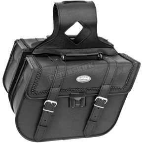 River Road Braided Rigid Quest Slant Saddlebags w/Lock - 10-8976