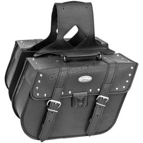 River Road Studded Rigid Quest Slant Saddlebags w/Lock - 10-8975