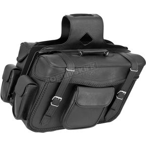 River Road Braided X-Large Quantum Slant Saddlebags - 10-9000