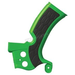Acerbis Green/Black X-Grip Frame Guards - 2374271089