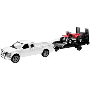 New Ray Toys Ford F250 w/Trailer and Honda ATV 1:43 Scale Die Cast Model - 19775b