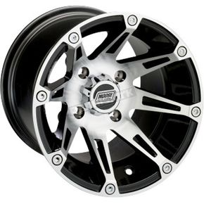 Machined/Black 387X 12x8 Wheel - 0230-0625