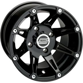 Moose Gloss Black Type 387 X Wheel - 0230-0626