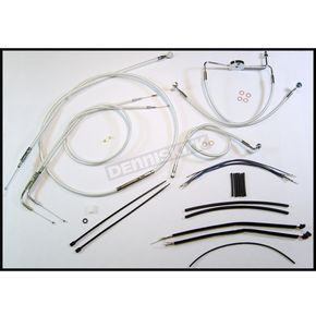 Magnum Custom Sterling Chromite II Designer Series Handlebar Installation Kit for Use w/12 in. - 14 in. Ape Hangers (Non-ABS)  - 387201