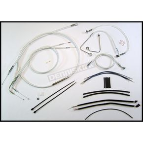 Magnum Custom Sterling Chromite II Designer Series Handlebar Installation Kit for Use w/15 in. - 17 in. Ape Hangers (w/ABS) - 387262
