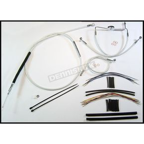 Magnum Custom Sterling Chromite II Designer Series Handlebar Installation Kit for Use w/12 in. - 14 in. Ape Hangers (Non-ABS) - 387301