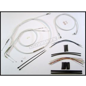Magnum Custom Sterling Chromite II Designer Series Handlebar Installation Kit for Use w/12 in. - 14 in. Ape Hangers - 387381
