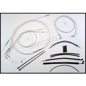 Magnum Custom Sterling Chromite II Designer Series Handlebar Installation Kit for Use w/15 in. - 17 in. Ape Hangers - 387392
