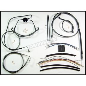 Magnum Black Pearl Designer Series Handlebar Installation Kit for Use w/12 in. - 14 in. Ape Hangers (w/ABS) - 487311