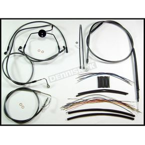 Magnum Black Pearl Designer Series Handlebar Installation Kit for Use w/15 in. - 17 in. Ape Hangers (w/ABS) - 487322