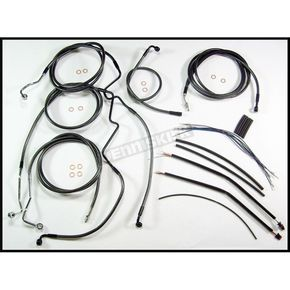 Magnum Black Pearl Designer Series Handlebar Installation Kit for Use w/15 in. - 17 in. Ape Hangers (w/ABS) - 487342