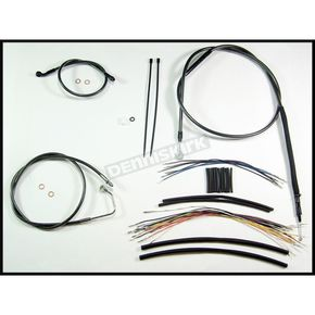 Magnum Black Pearl Designer Series Handlebar Installation Kit for Use w/18 in. - 20 in. Ape Hangers (w/ABS) - 487363
