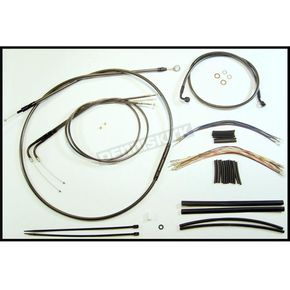Magnum Black Pearl Designer Series Handlebar Installation Kit for Use w/18 in. - 20 in. Ape Hangers - 487443