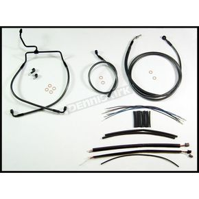 Magnum Black Pearl Designer Series Handlebar Installation Kit for Use w/15 in. - 17 in. Ape Hangers (Non-ABS) - 487472