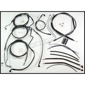 Magnum Black Pearl Designer Series Handlebar Installation Kit for Use w/18 in. - 20 in. Ape Hangers (w/ABS) - 487483