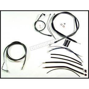 Magnum Black Pearl Designer Series Handlebar Installation Kit for Use w/12 in. - 14 in. Ape Hangers (w/ABS) - 487491