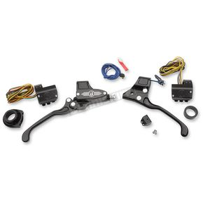 Performance Machine Black Complete Handlebar Control Kit w/Cable Clutch - 0062-4019-BM
