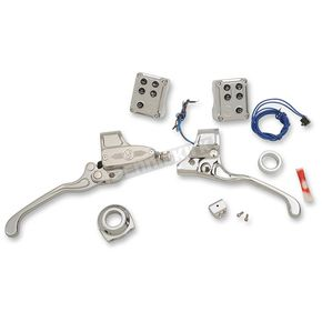Performance Machine Chrome Complete Handlebar Control Kit w/Cable Clutch - 0062-4021-CH