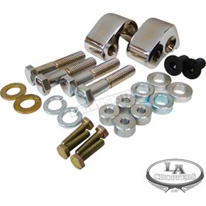 Chrome 1 in. Rear Lowering Kit - LA-7590-00