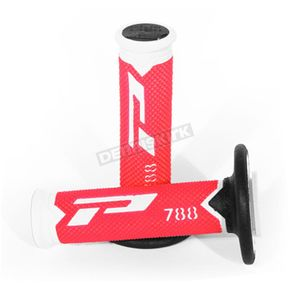 White/Red 788 Extra Slim Triple Density Grips - PA078800WRN