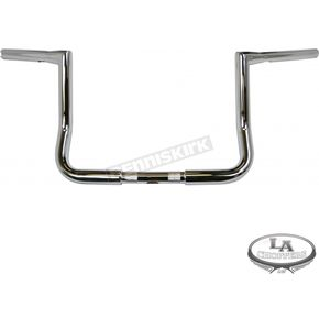 LA Choppers Chrome 10 in. Bagger Twin Peaks Ape Hanger Throttle-By-Wire Handlebars - LA-7361-10