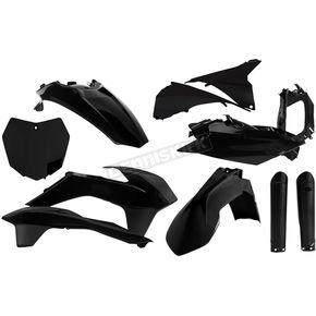 Acerbis Full Black Replacement Plastics Kit - 2403090001