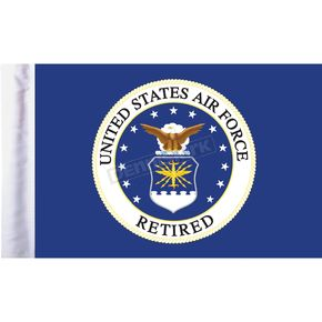 Pro Pad 10 in. x 15 in. Air Force Retired Motorcycle Flag - FLG-RETAF15