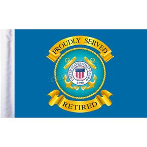Pro Pad 6 in. x 9 in. U.S. Coast Guard Retired Motorcycle Flag - FLG-RTCGD